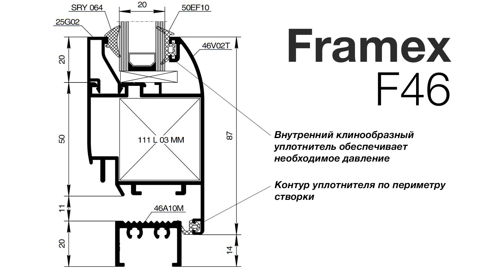 Алюмінієвий профіль Framex F46
