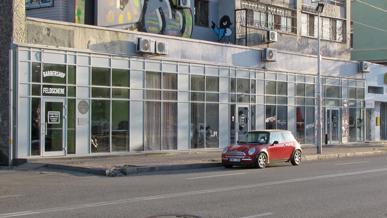 Фасадне скління торгового комплексу