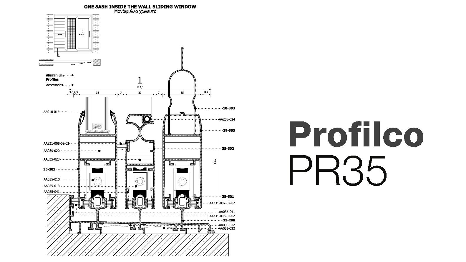 Розсувна система Profilco PR35