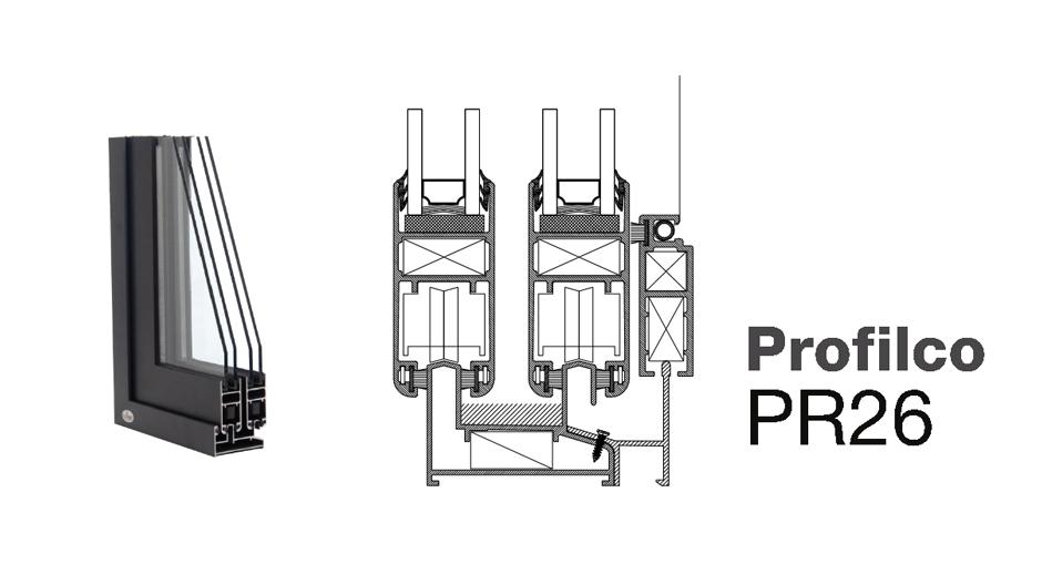 Розсувна система Profilco PR26